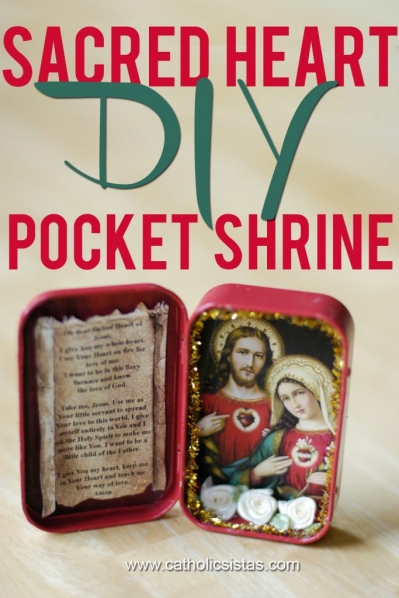 DIY Sacred Heart Pocket Shrine